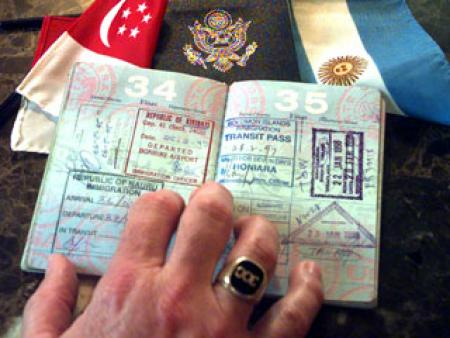 Passport stamped