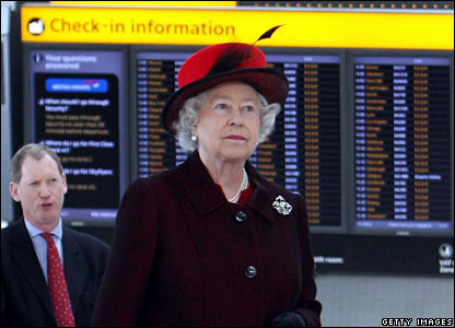 The Queen at Heathrow
