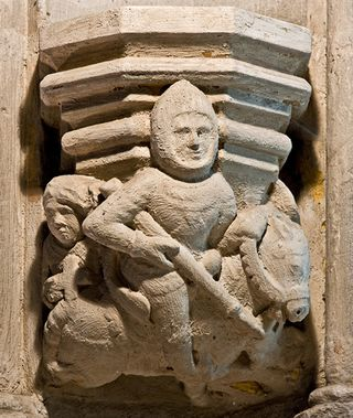 Knight carving Rosslyn