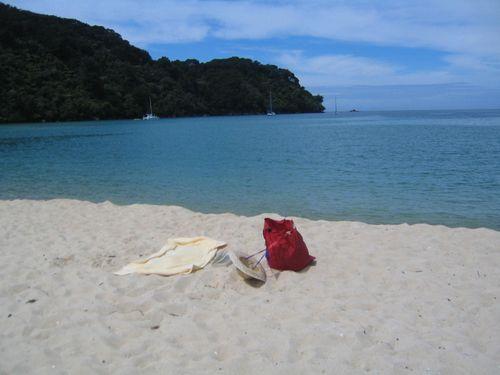 Bark bay hat on beach