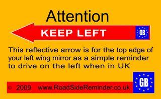 Left road